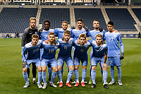 Chester, PA - Friday December 08, 2017: University of North Carolina Starting Eleven The Indiana Hoosiers defeated the North Carolina Tar Heels 1-0 during an NCAA Men's College Cup semifinal soccer match at Talen Energy Stadium.