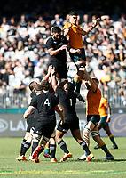 5th September 2021; Optus Stadium, Perth, Australia: Bledisloe Cup international rugby, Australia versus New Zealand; The All Blacks win the line out