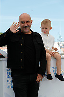 """CANNES, FRANCE - JULY 17: Gaspar Noe and Kylian Dheret at the """"Vortex"""" photocall during the 74th annual Cannes Film Festival on July 17, 2021 in Cannes, France. <br /> CAP/GOL<br /> ©GOL/Capital Pictures"""