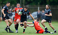 Action from the preseason rugby match between The Cell C Sharks and Russia at Jonsson Kings Park Stadium in Durban, South Africa on Friday, 10 January 2020. Photo: Steve Haag / stevehaagsports.com