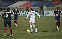 Lorient, France. - Sunday, February 8, 2015:  Morgan Brian (15) of the USWNT. France defeated the USWNT 2-0 during an international friendly at the Stade du Moustoir.