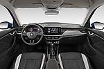 Stock photo of straight dashboard view of a 2020 Skoda Kamiq Style 5 Door SUV