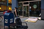 New York, New York<br /> August 30, 2020<br /> <br /> Manhattan post-pandemic. Homeless living on the streets.