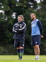 Manager Gareth Ainsworth & Paul Hayes during the Wycombe Wanderers 2016/17 Pre Season Training Session at Wycombe Training Ground, High Wycombe, England on 1 July 2016. Photo by Andy Rowland / PRiME Media Images.