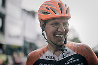 race winner Taco van der Hoorn (NED/Roompot-Nederlandse Loterij) after finishing<br /> <br /> 92nd Schaal Sels 2017 <br /> 1 Day Race: Merksem > Merksem (188km)