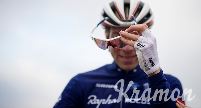 Jeremy Powers (USA/Rapha-Focus) post-race<br /> <br /> Koksijde CX World Cup 2014