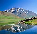 Morocco, High Atlas, near Oukaimeden at Toubkal National Park: Scenery at the High Atlas mountains | Marokko, Hoher Atlas, bei Oukaimeden im Toubkal National Park: Landschaft im Hohen Atlas Gebirge