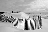 This freshly fallen snow covered the dunes and beach at the Dunes Club, Narragansett.