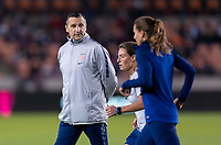 HOUSTON, TX - JANUARY 31: Vlatko Andonovski of the United States watches his team during a game between Panama and USWNT at BBVA Stadium on January 31, 2020 in Houston, Texas.