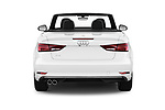 Straight rear view of a 2018 Audi A3 Premium 2 Door Convertible stock images