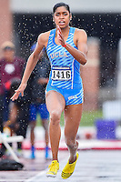 Kylie Price of UCLA competes in first round of long jump during West Preliminary Track & Field Championships at John McDonnell Field, Thursday, May 29, 2014 in Fayetteville, Ark. (Mo Khursheed/TFV Media via AP Images)