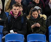Burnley fans<br /> <br /> Photographer David Horton/CameraSport<br /> <br /> The Premier League - Brighton and Hove Albion v Burnley - Saturday 9th February 2019 - The Amex Stadium - Brighton<br /> <br /> World Copyright © 2019 CameraSport. All rights reserved. 43 Linden Ave. Countesthorpe. Leicester. England. LE8 5PG - Tel: +44 (0) 116 277 4147 - admin@camerasport.com - www.camerasport.com