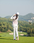 Players in action during The Match at Mission Hills with Ian Poulter vs Justin Rose,  on 27 October 2014, in Shenzhen, China. Photo by Mike Pickles / Power Sport Images