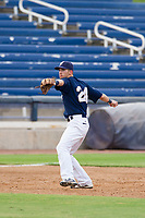 AZL Brewers third baseman Nick Egnatuk (24) makes a throw to first base against the AZL Padres 2 on September 2, 2017 at Maryvale Baseball Park in Phoenix, Arizona. AZL Brewers defeated the AZL Padres 2 2-0. (Zachary Lucy/Four Seam Images)