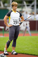 EUGENE, OR--Kim Kreiner finishes second in the women's javelin with a throw of 58.82m at the Steve Prefontaine Classic, Hayward Field, Eugene, OR. SUNDAY, JUNE 10, 2007. PHOTO © 2007 DON FERIA