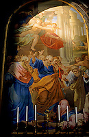 Painting inside Saint Peter's Basilica, Vatican City, Rome, Italy.