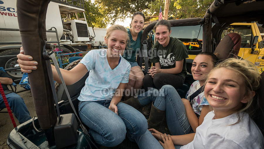 Day 4 of the Amador County Fair, Plymouth, Calif.<br /> <br /> Miss Amador Scholarship queens before their mud bath