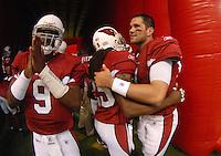 Aug 18, 2007; Glendale, AZ, USA; Arizona Cardinals quarterback Shane Boyd (9) and quarterback Matt Leinart (7) against the Houston Texans at University of Phoenix Stadium. Mandatory Credit: Mark J. Rebilas-US PRESSWIRE Copyright © 2007 Mark J. Rebilas