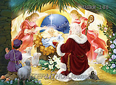 Randy, HOLY FAMILIES, HEILIGE FAMILIE, SAGRADA FAMÍLIA, paintings+++++St.-Nicholas-and-the-Manger,USRW188,#xr#