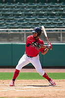 FCL Red Sox Cuba Bess (49) bats during a game against the FCL Twins on August 7, 2021 at JetBlue Park at Fenway South in Fort Myers, Florida.  (Mike Janes/Four Seam Images)