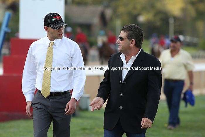 April 12, 2014: Before the running of the Arkansas Derby atOaklawn Park in Hot Springs, AR. Justin Manning/ESW/CSM