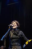 22/05/2006 Barbican Hall, London, England. Brazilian legends Mutantes play a reunion gig after 33 years. Original members on stage: Sergio Dias, Arnaldo Baptista, Ronaldo 'Dinho' Leme, with singer Zelia Duncan. Zelia Duncan.