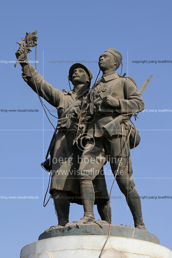 Senegal, Dakar city, Askari memorial, Askari is a term for the native senegalese soldiers serving in the french colonial army / Askari Denkmal, Askari ist ein Begriff fuer einheimische Soeldner die fuer die französische Kolonialtruppe kämpften