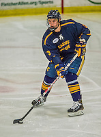 29 December 2013:  Canisius College Golden Griffins defenseman Doug Jessey, a Junior from Langdon, Alberta, in action during the third period against the University of Vermont Catamounts at Gutterson Fieldhouse in Burlington, Vermont. The Catamounts defeated the Golden Griffins 6-2 in the 2013 Sheraton/TD Bank Catamount Cup NCAA Hockey Tournament. Mandatory Credit: Ed Wolfstein Photo *** RAW (NEF) Image File Available ***