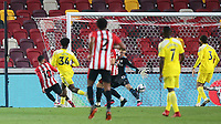 Said Benrahma scores Brentford's second goal during Brentford vs Fulham, Caraboa Cup Football at the Brentford Community Stadium on 1st October 2020