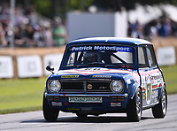 9th July 2021;  Goodwood  House, Chichester, England; Goodwood Festival of Speed; Day Two; Nick Swift drives a Mini 1275 GT in the Goodwood Hill Climb