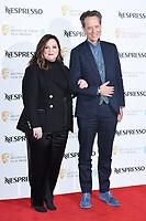 Melissa McCarthy and Richard E Grant<br /> arriving for the 2019 BAFTA Film Awards Nominees Party at Kensington Palace, London<br /> <br /> ©Ash Knotek  D3477  09/02/2019