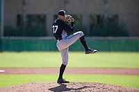 Chicago White Sox pitcher Jeff Mockbee (37) delivers a pitch to the plate during an Instructional League game against the Los Angeles Dodgers on September 30, 2017 at Camelback Ranch in Glendale, Arizona. (Zachary Lucy/Four Seam Images)