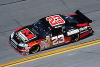 Feb 07, 2009; Daytona Beach, FL, USA; NASCAR Sprint Cup Series driver Mike Skinner during practice for the Daytona 500 at Daytona International Speedway. Mandatory Credit: Mark J. Rebilas-