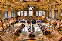 The refurbished Hoboken Terminal Main Waiting Room in Hoboken, New Jersey
