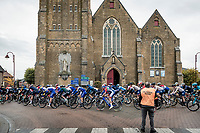 rolling through Aartrijke<br /> <br /> 44th AG Driedaagse Brugge-De Panne 2020 (1.UWT / BEL)<br /> 1 day race from Brugge to De Panne (203km shortened to 188km due to the windy weather conditions) <br /> <br /> ©kramon