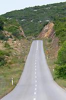 Road in Halkidiki. Greece.