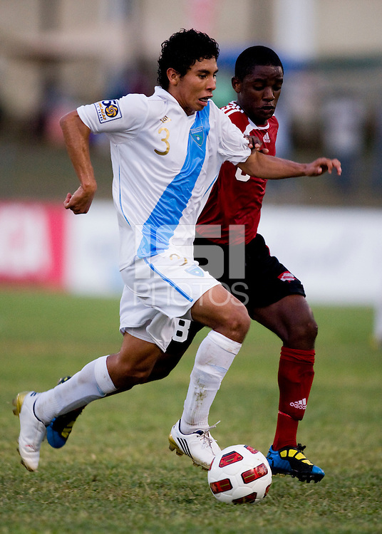 Luis Ruiz (3) of Guatemala sprints past a defender during the group stage of the CONCACAF Men's Under 17 Championship at Jarrett Park in Montego Bay, Jamaica. Trinidad & Tobago defeated Guatemala, 1-0.