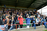 20180414 - AALTER , BELGIUM : Brugge's fans and supporters pictured during the 21st matchday in the 2e Nationale Women's league , a womensoccer game between Club Brugge Dames and GFA Sinaai , in Aalter , saturday 15 th April 2018 . PHOTO SPORTPIX.BE   DAVID CATRY