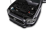 Car stock 2016 Toyota Tacoma SR5 Access Cab 4 Door Pick Up engine high angle detail view