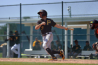 Pittsburgh Pirates Daniel Amaral (26) bats during a Minor League Spring Training game against the Baltimore Orioles on April 21, 2021 at Pirate City in Bradenton, Florida.  (Mike Janes/Four Seam Images)