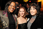 From left: Tracy Carmen Jones, Amber Baker and Linda Merritt at the Heart Ball kickoff party at the Hotel ZaZa Wednesday Jan. 13,2010.(Dave Rossman/For the Chronicle)