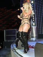 UNIVERSAL CITY, CA, USA - JULY 10: Aubrey O'Day of Danity Kane performs at Universal CityWalk's 'Music Spotlight Series' at Universal CityWalk on July 10, 2014 in Universal City, California, United States. (Photo by David Acosta/Celebrity Monitor)