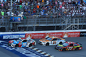 Monster Energy NASCAR Cup Series<br /> FireKeepers Casino 400<br /> Michigan International Speedway, Brooklyn, MI USA<br /> Sunday 18 June 2017<br /> Kyle Busch, Joe Gibbs Racing, M&M's Red, White & Blue Toyota Camry Ryan Blaney, Wood Brothers Racing, Omnicraft Auto Parts Ford Fusion Erik Jones, Furniture Row Racing, 5-hour ENERGY Extra Strength Toyota Camry<br /> World Copyright: Michael L. Levitt<br /> LAT Images