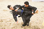 SHUKOR Mohamad Zarish Hakim Shuk (R) of Malaysia fights against NGUYEN NGOC Toan of Vietnam during the Pencak Silat Men's competition on Day Eight of the 5th Asian Beach Games 2016 at Bien Dong Park on 01 October 2016, in Danang, Vietnam. Photo by Marcio Machado / Power Sport Images