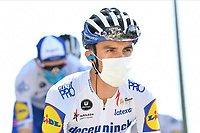 5th September 2020, Grand Colombier, France;  ALAPHILIPPE Julian (FRA) of DECEUNINCK - QUICK - STEP during stage 8 of the 107th edition of the 2020 Tour de France cycling race, a stage of 140 kms with start in Cazeres-sur-Garonne and finish in Loudenvielle