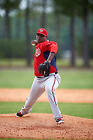 Washington Nationals JC Gutierrez (69) during a minor league Spring Training game against the Detroit Tigers on March 28, 2016 at Tigertown in Lakeland, Florida.  (Mike Janes/Four Seam Images)