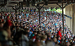 August 29, 2015 : Scenes from around the track as American Pharoah fans crowd the rail and the stands for Travers Stakes Day at Saratoga Race Course in Saratoga Springs, NY. Scott Serio/ESW/CSM