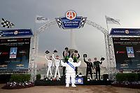 #39 CarBahn with Peregrine Racing Audi R8 LMS GT3, GTD: Richard Heistand, Jeff Westphal, Victory Lane<br /> #23: Heart Of Racing Team Aston Martin Vantage GT3, GTD: Ross Gunn, Roman De Angelis<br /> #19: GRT Grasser Racing Team Lamborghini Huracan GT3, GTD: Misha Goikhberg