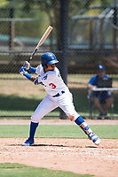 AZL Dodgers third baseman Kenneth Betancourt (3) at bat during an Arizona League game against the AZL Padres 2 at Camelback Ranch on July 4, 2018 in Glendale, Arizona. The AZL Dodgers defeated the AZL Padres 2 9-8. (Zachary Lucy/Four Seam Images)