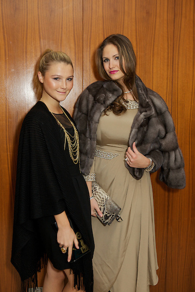 Amber Atherton and Gabilicious from Made in Chelsea at The Take Heart Ball, Kensington Roof Gardens, London